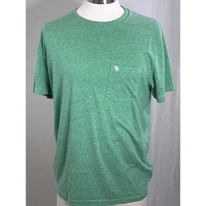 Abercrombie and Fitch Green Short Sleeve Shirt